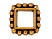 20 - TierraCast Pewter BEAD FRAME Square Double Row Beaded Edge Antique Gold Plated