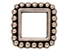 20 - TierraCast Pewter BEAD FRAME Square Double Row Beaded Edge Antique Silver Plated
