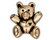 10 - TierraCast Pewter Antique Gold Plated Pewter Bead, Teddy Bear