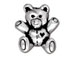 10 - TierraCast Pewter Antique Silver Plated Pewter Bead, Teddy Bear