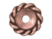 20 - TierraCast Pewter BEAD Twisted Spacer, Antique Copper Plated