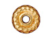 20 - TierraCast Pewter BEAD Large Hole Hammertone Spacer, Bright Gold Plated