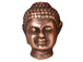 10 - TierraCast Pewter BEAD Large Hole Buddha Head, Antique Copper Plated