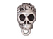 5 - TierraCast Pewter BAIL Skull with Large Hole Antique Silver Plated