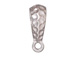 5 - TierraCast Pewter BAIL Hammertone with Large Hole Bright Rhodium Plated