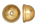 10 - TierraCast Pewter BEAD CAP 9mm Classic Dome Bright Gold Plated