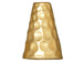 10 - TierraCast Pewter CONE Tall Hammertone Bright Gold Plated