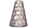 10 - TierraCast Pewter CONE Tall Hammertone Bright Rhodium Plated