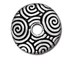10 - TierraCast Pewter SPIRAL DANCE Bead Cap 14mm Antique silver plated
