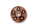 10 - TierraCast Pewter Rivet Bead Cap Copper Plated
