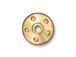 10 - TierraCast Pewter Rivet Bead Cap Gold Plated