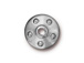 10 - TierraCast Pewter Rivet Bead Cap Rhodium Plated