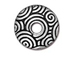 10 - TierraCast Pewter SPIRAL DANCE Bead Cap Antique silver plated