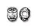 10 - TierraCast Pewter BEAD Owl Antique Silver Plated