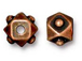 10 - TierraCast Pewter BEAD Faceted Cube Antique Copper Plated