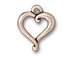 10 - TierraCast Pewter CHARM Jubilee Heart, Antique Silver Plated