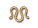 10 - TierraCast Pewter Classic M Hook Clasp Bright Gold Plated