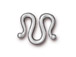 10 - TierraCast Classic M Hook Clasp Pewter Bright Rhodium Plated
