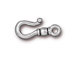 10 - TierraCast Pewter Classic Hook Clasp Antique Silver Plated