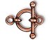 10 - TierraCast Pewter CLASP  1/2 inch Anna Antiqued Copper Plated