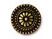 5 - TierraCast Pewter Button Large Bali Oxidized Brass