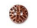 10 - TierraCast Pewter Button Round Radiant Antique Copper Plated