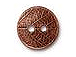 10 - TierraCast Pewter Button Round Leaf Antique Copper Plated