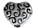 Pewter Heart Shape Bead