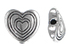 Heart Pewter Bead