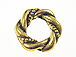 Gold Plated Twisted Pewter Ring