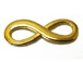 Infinity Link Charm Pewter Pendant