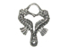 Pewter Double Seahorse Charm