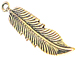 Large Eagle Feathers Antique Gold Plated Pewter Pendant