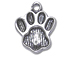 Pewter Paw Print Charm - (15 X 12mm)
