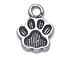 11mm Pewter Paw Print Charm