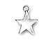 Pewter Star Charm  16x13mm