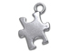 Pewter Puzzle Piece Autism Awareness Charm- (15.5 X 12mm)
