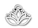 Pewter Lotus Flower Charm
