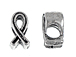 Pewter Large Hole Ribbon Euro-Bead
