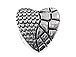 Heart Large Hole Pewter Bead