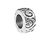 Swirl Pewter Large Hole Bead