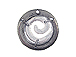 Small Round Swirl Pewter Pendant
