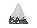 Triangle Two Toned Pewter Pendant