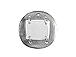Round/Rectangular Pewter Pendant