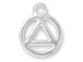 10 - TierraCast Bright Rhodium Plated Pewter Recovery Charm