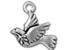 10 - Tierracast Antique Silver Plated Peace Dove Pewter Charm