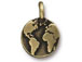 10 - TierraCast Oxidized Brass Earth Charm