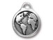 5 - TierraCast Antique Silver Earth Drop