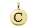 TierraCast Pewter Alphabet Charm Antique Gold Plated -  C