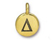TierraCast Pewter Alphabet Charm Antique Gold Plated -  Delta